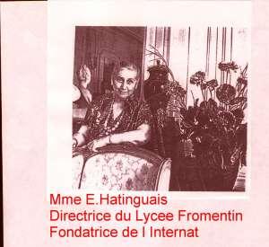 Fondatrice Internat Fromentin,